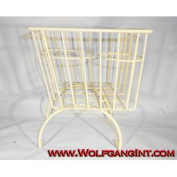 Console Basket - White