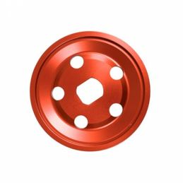 Billet Pulley Outer Half Red