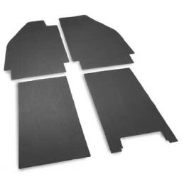 Rubber Floor Mat Set, Black