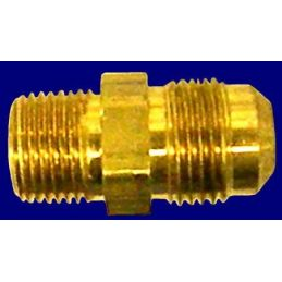 "Oil Fittings Brass; Quick male to 3/8"" pipe"