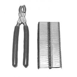 Hog Ring Tool & Clips; w/100 clips