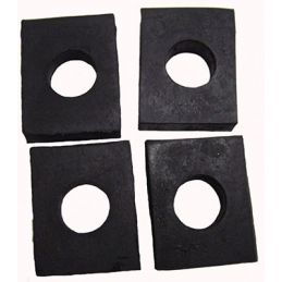 Rear Body Shock Pad; Set of 4
