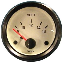 VDO Performance Instruments - Cockpit White; Voltmeter 2 1/16""