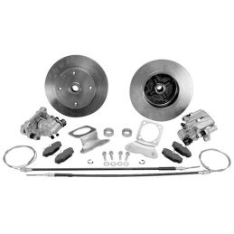 Rear Disc Brake Kit; With E. brake single piston calipers