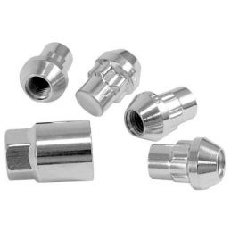 Chrome Wheel Locks; 1/2x20(4)Acorn Nut