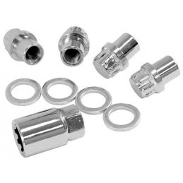 Chrome Wheel Locks; 1/2x20(4)Mag Nut