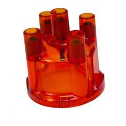 Transparent Distributor Caps; Red