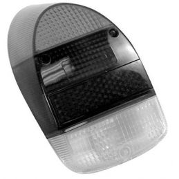 Tail Light Lenses; Amber/Red Euro