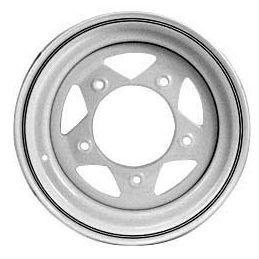 Steel Wheels; 15 x 6 White