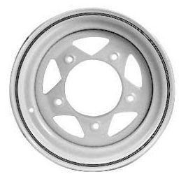 Steel Wheels; 15 x 7 White
