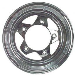 Steel Wheels; 15 x 6 Chrome