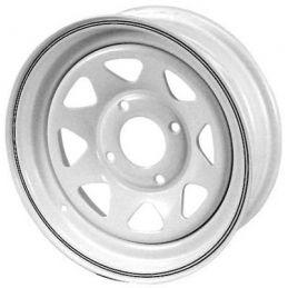 Steel Wheels; 15 x 5 White