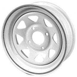 Steel Wheels; 15 x 10 White