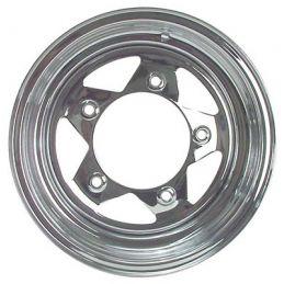 Steel Wheels; 15 x 5 Chrome