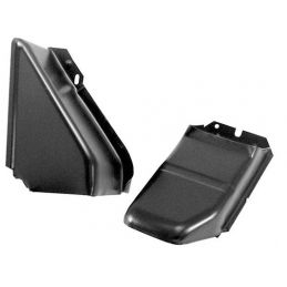 Rear Doghouse Ducting Tins; Black exhaust/cooler cover