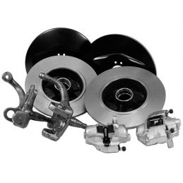 Front Disc Brake Conversion Kit; Kit for standard height spindles