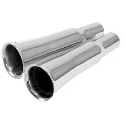 Chrome Exhaust Tips; Flared (pr)