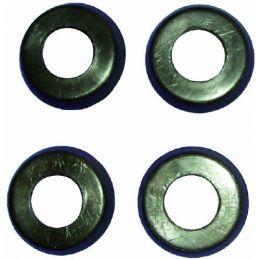 Door Handle/Window Crank Buffers; Black (4pc.)