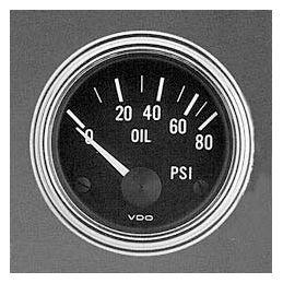 "VDO Performance Instruments - Series 1; *Oil pressure 80 PSI 2 1/16"""