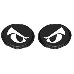 "Off Road Light Covers; 5"" black vinyl with eyes (pr)"