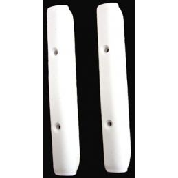 Popout Window Hinge Covers; White (pr)