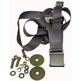 Seat Belts; Chrome & Gray Frt. Lap\Shoulder
