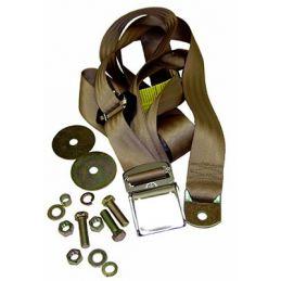 Seat Belts; Chrome & TanFrt. Lap\Shoulder