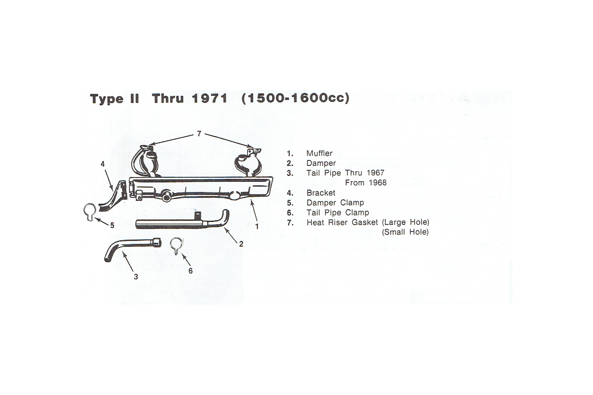 Stock Exhaust Up to 1971