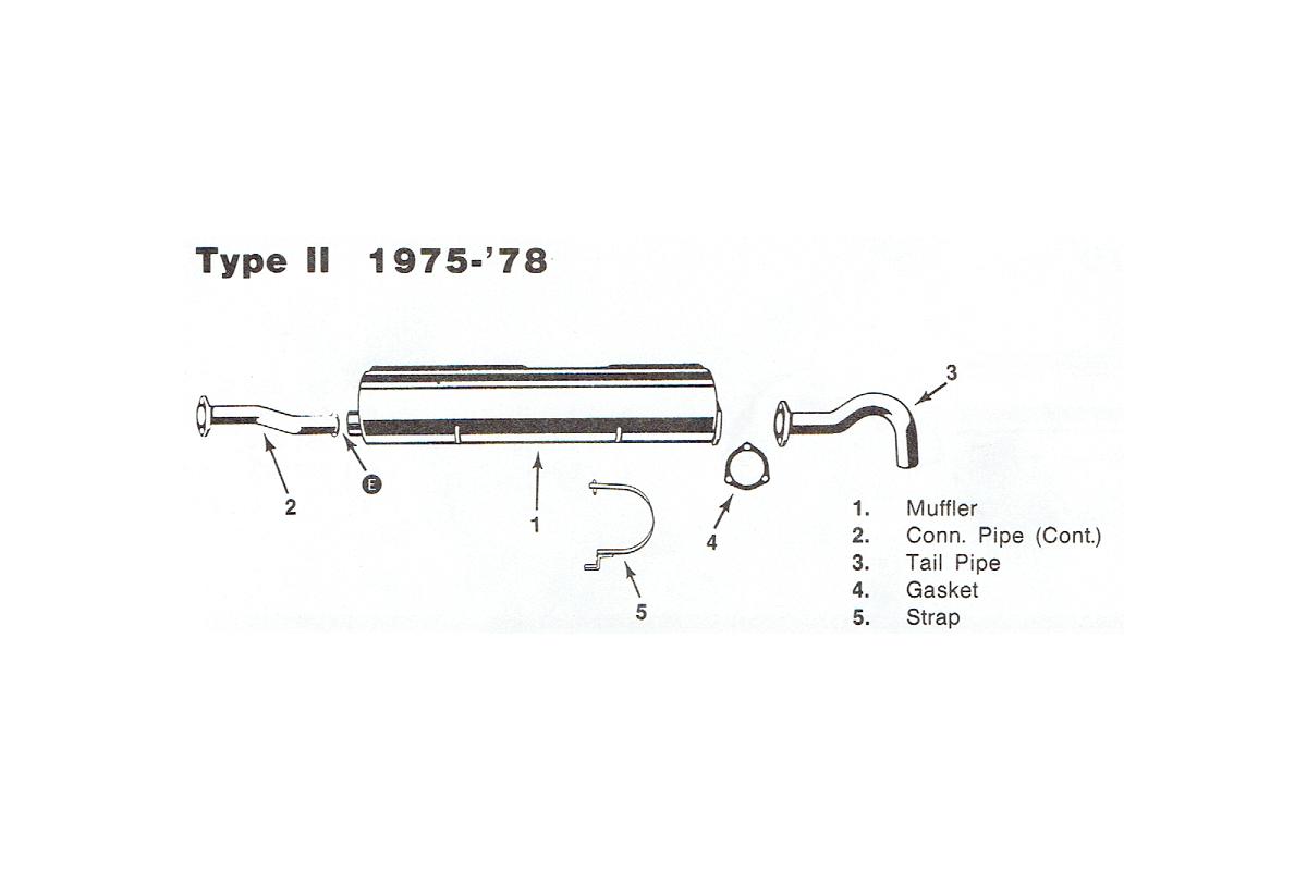 Stock Exhaust 1975-1978